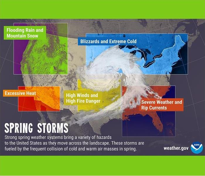 US map of spring storm types