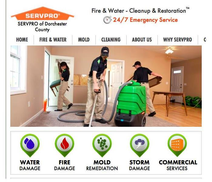 Commercial Introducing SERVPRO of Dorchester County!